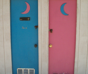 moon, pink, and blue image
