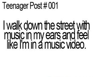 music, quote, and teenager post image