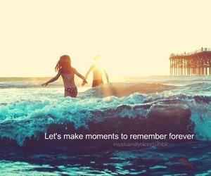 Lyrics, moments, and remember image