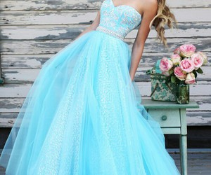 dress, blue, and sherri hill 11186 image