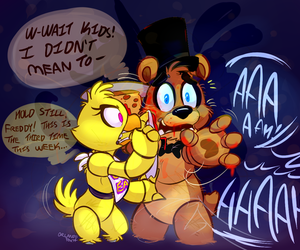 Chica, Freddy, and fnaf image
