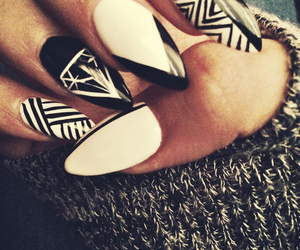 diamond, nail art, and nails image