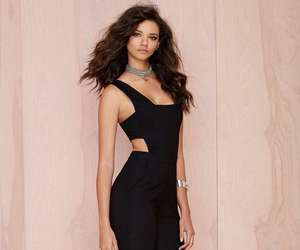 black, jumpsuit, and sexy image