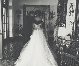 black and white, wedding, and woman image