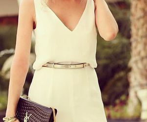 jumpsuit, nice, and white image