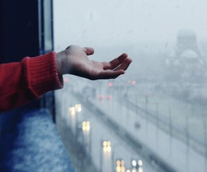 rain, hand, and photography image