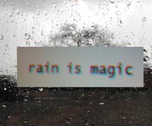 magic, rain, and grunge image