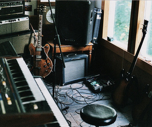 guitar, music, and keyboard image
