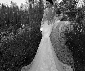 dress, lace, and mermaid image