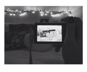 bedroom, lights, and nikon 1 image