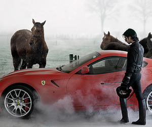 car and horse image