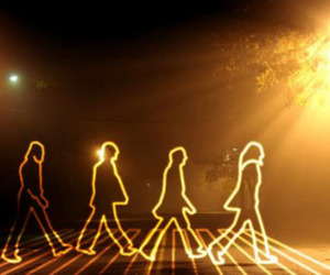 the beatles, abbey road, and beatles image