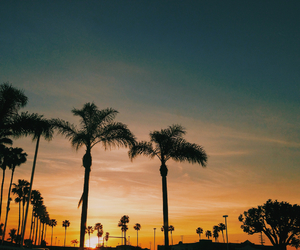 california, los angeles, and sunset image