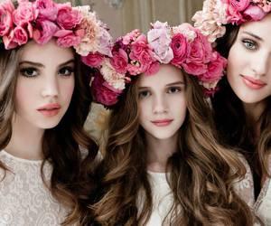 bride, rose, and dress image