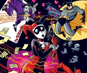 flash, batman, and harley quinn image