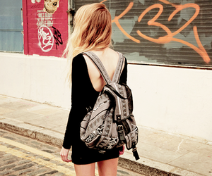 dress, hair, and backpack image