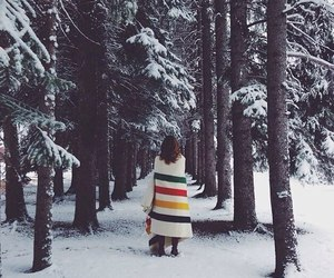 girl, nature, and snow image