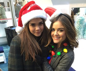 christmas, lucy hale, and maia mitchell image