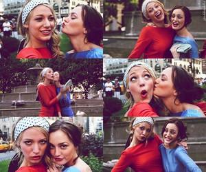gossip girl, serena, and blair image