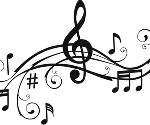 music, music notes, and treble clef image