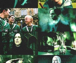 slytherin, harry potter, and draco malfoy image