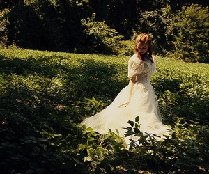 dress, garden, and girl image