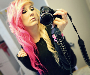 facebook, pink hair, and tumblr image