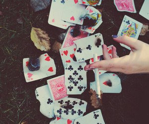 grunge, cards, and cigarette image