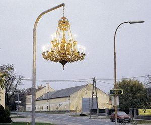 street, light, and chandelier image