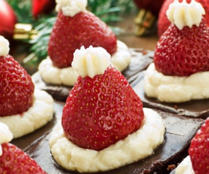 brownie, christmas, and strawberry image