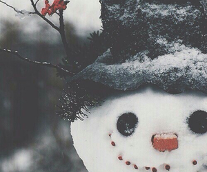 snow, winter, and snowman image