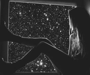black and white, legs, and nighttime image