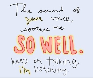 listen, soothe, and your voice image