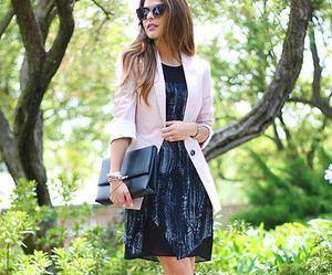black dress, class, and fashion image