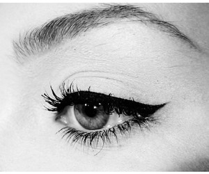 eyeliner, beautiful, and black and white image