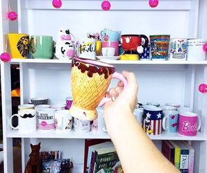 mug and ice cream image
