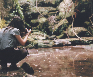 girl, photography, and river image