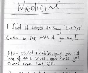 medicine, the 1975, and Lyrics image