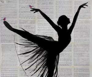 ballet, black, and butterfly image