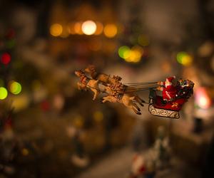 christmas, santa, and lights image