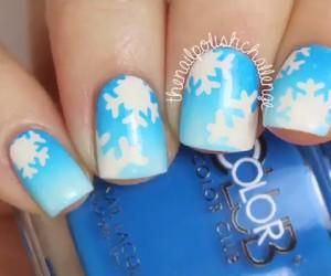 snowflake, christmas, and nail art image