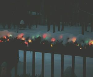 christmas, grunge, and lights image