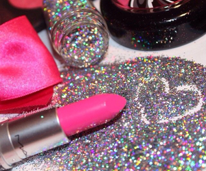 cool, glitter, and heart image