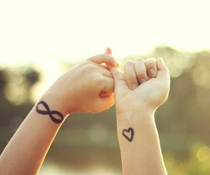 best friends, pinky promise, and besties image