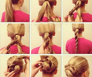 bun, diy, and fashion image