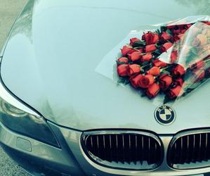 bmw, car, and rose image