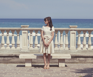 dress, fashion, and sea image