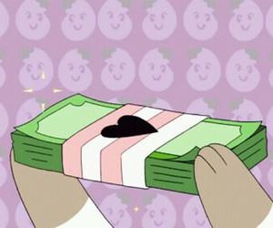 money, cash, and bee and puppycat image