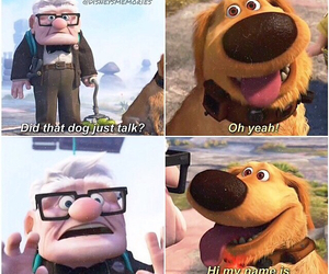 dog, up, and movies image