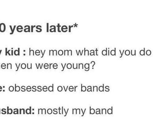 bands, funny, and husband image